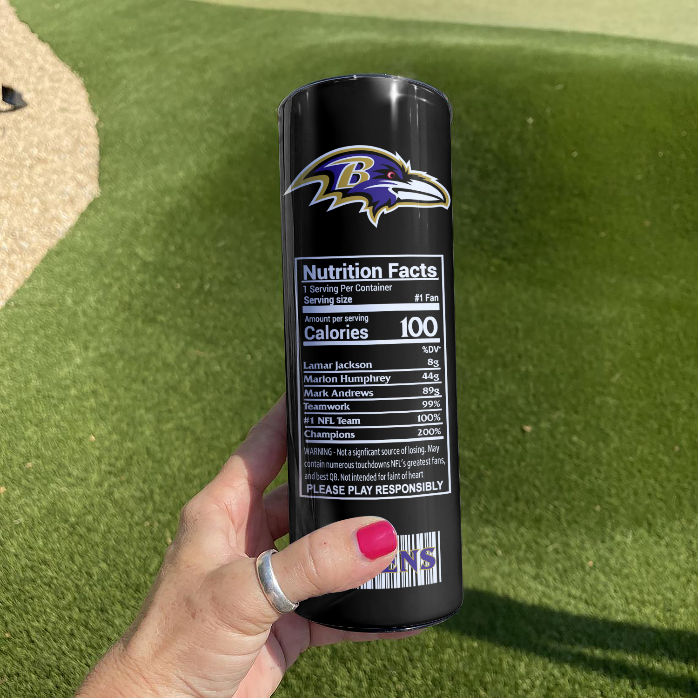 Baltimore Ravens Skinny Tumbler1