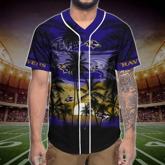Baltimore Ravens Tropical Baseball Jersey3
