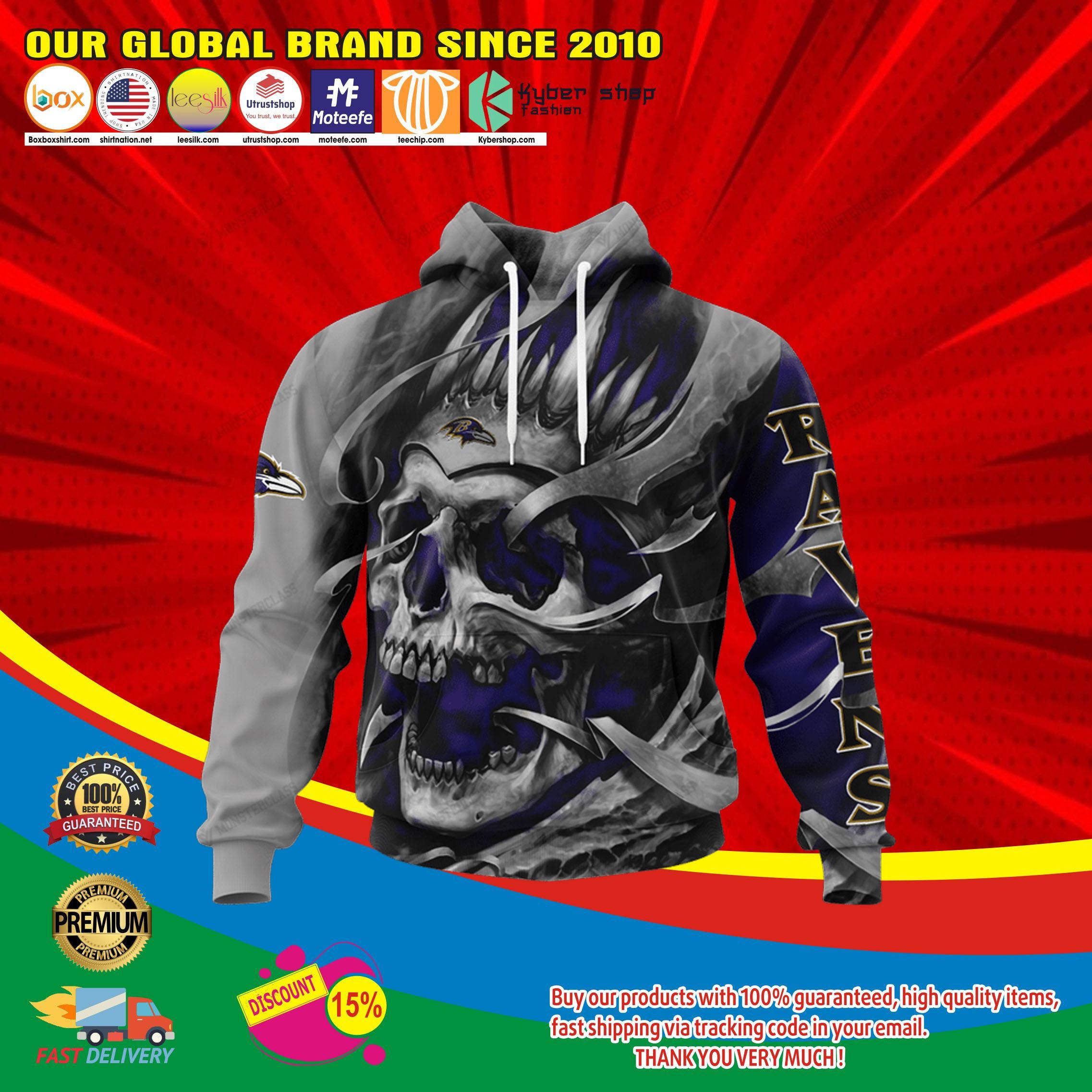 Baltimore ravens skull jersey hoodie4