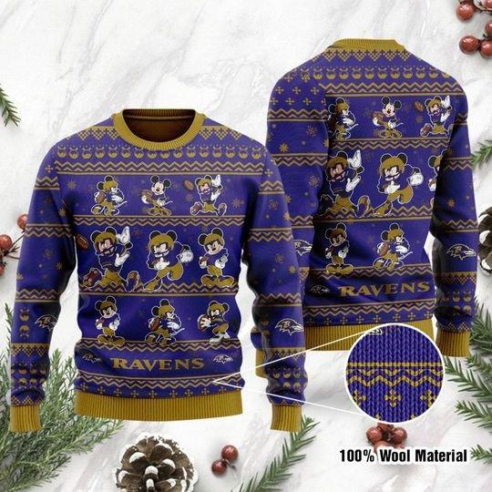 Baltmore Ravens Mickey Sweatshirt Sweater