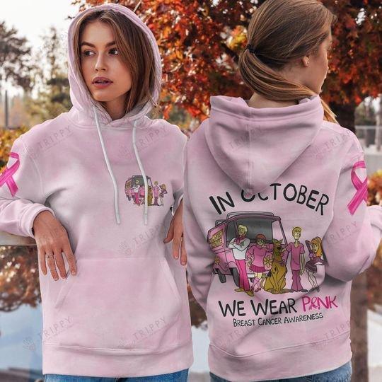 Breast Cancer Awareness Scooby Doo In October We Wear Pink 3d shirt hoodie 6