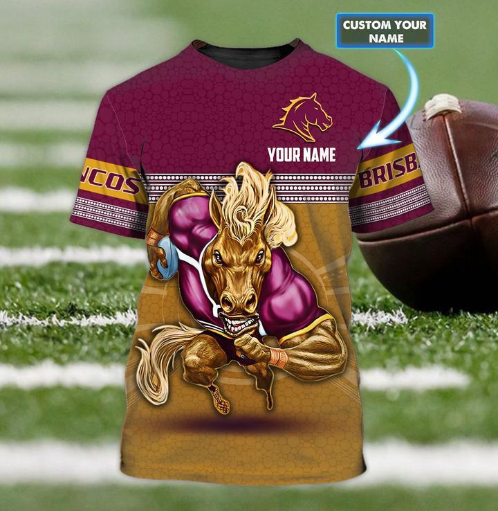 Brisbane Broncos custom personalized 3d t shirt 1