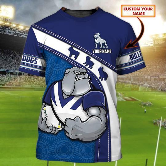 Bulldogs custom personalized 3d t shirt