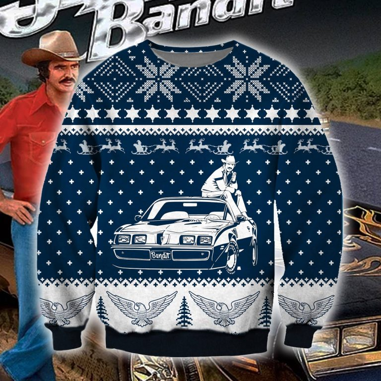 Burt Reynolds Bandit Pontiac ugly sweater sweatshirt 1