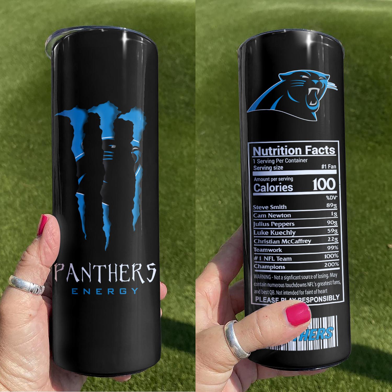 Carolina Panthers Skinny Tumbler