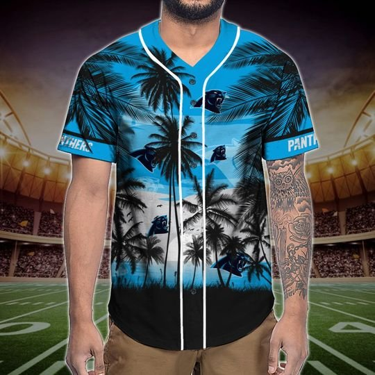 Carolina Panthers Tropical Baseball Jersey3