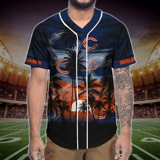 Chicago Bears Tropical Baseball Jersey3