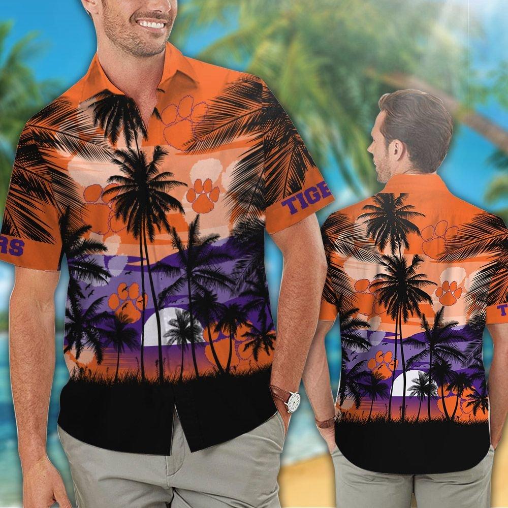 Clemson Tigers football Tropical hawaiian shirt 1