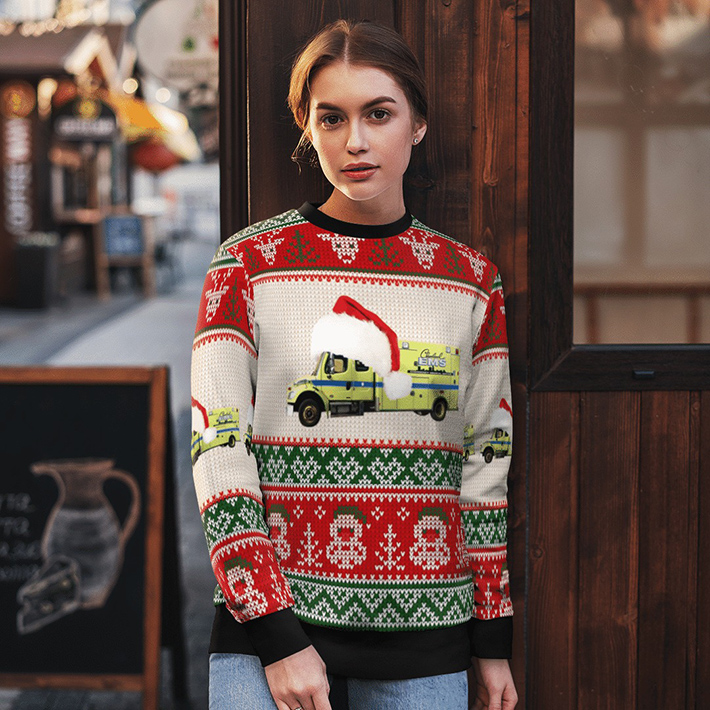 Cleveland EMS Ugly Christmas Sweater1