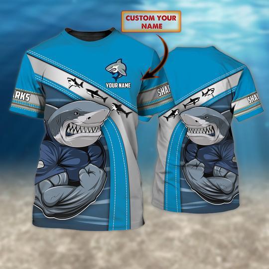 Cronulla Sutherland Sharks custom Personalized 3d t shirt 1