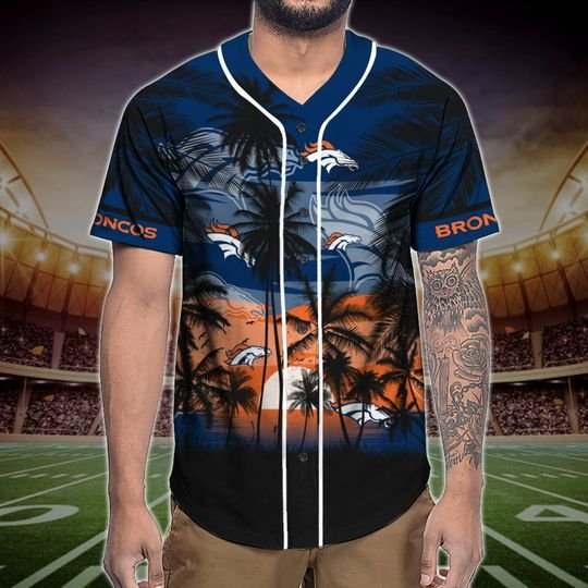 Denver Broncos Tropical Baseball Jersey3