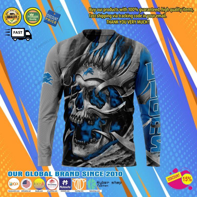 Detroit lions skull jersey hoodie8