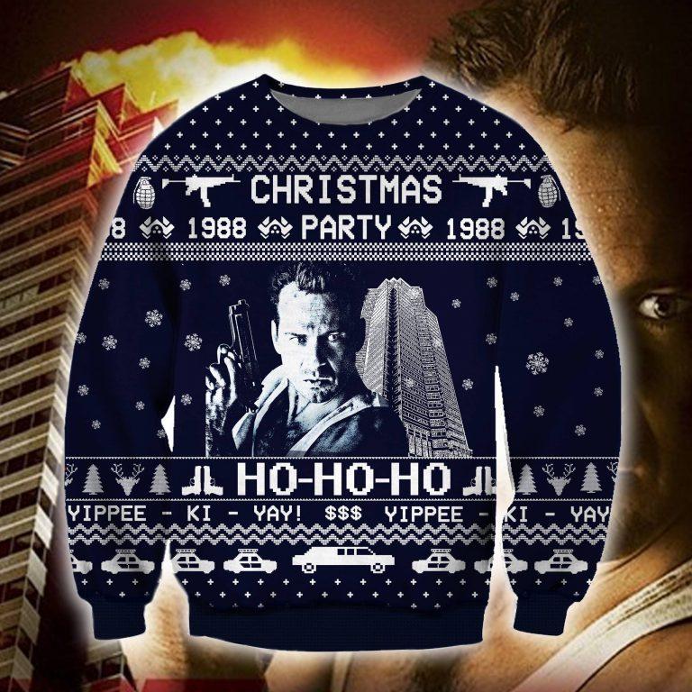 Die hard Christmas movie 1988 party ugly sweater sweatshirt 1
