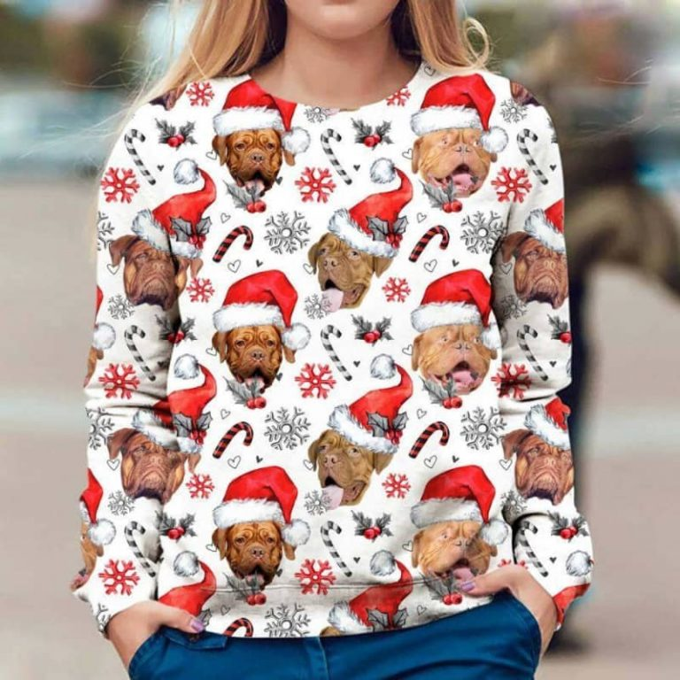 Dogue de Bordeaux Christmas sweatshirt 1