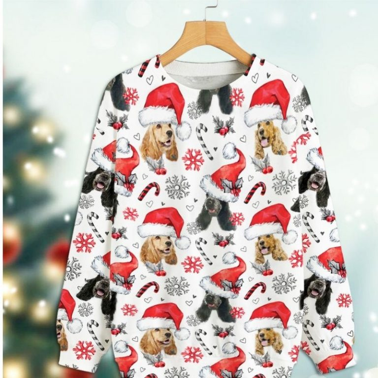 English Cocker Spaniel Xmas Christmas Decor sweatshirt 1