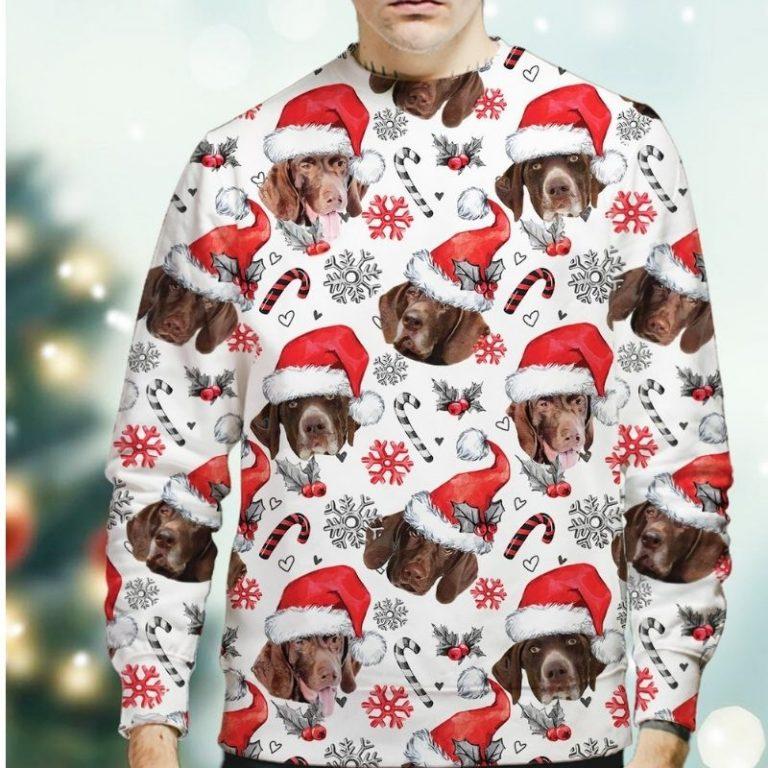 German Shorthaired Pointer Christmas sweatshirt 2