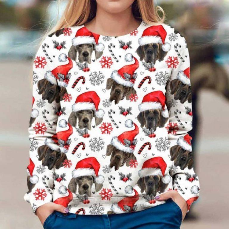 Great Dane Xmas Christmas Decor sweatshirt 1