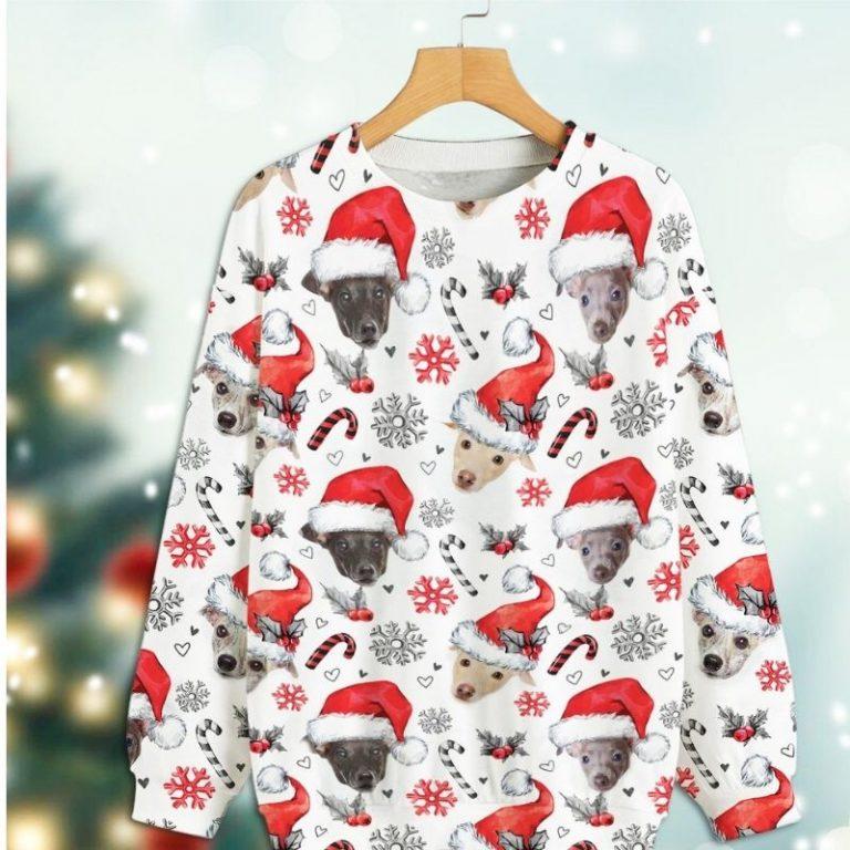 Greyhound Dog Xmas Christmas Decor sweatshirt 3
