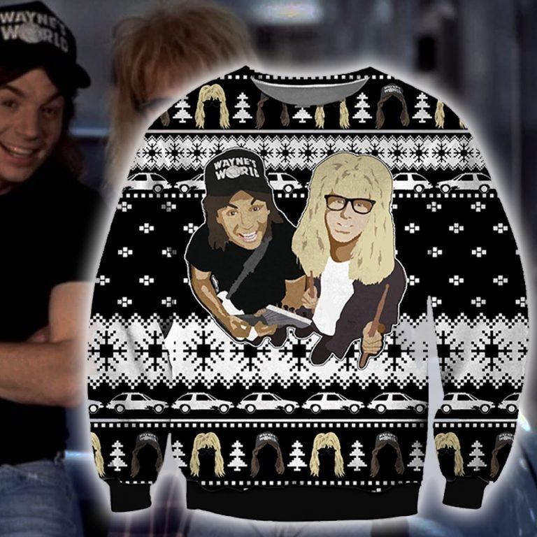 Guns N Roses Waynes World ugly sweater sweatshirt 1