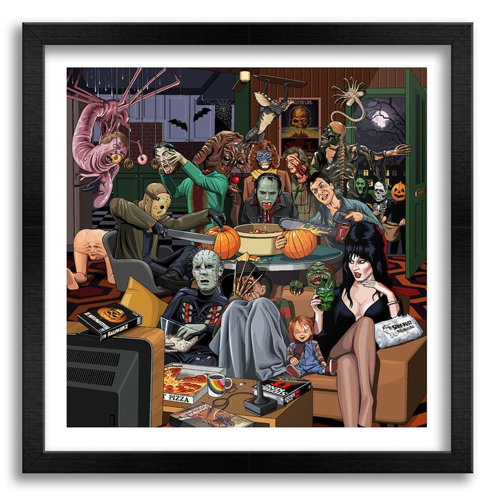 Horror Characters Halloween Party wall art 1