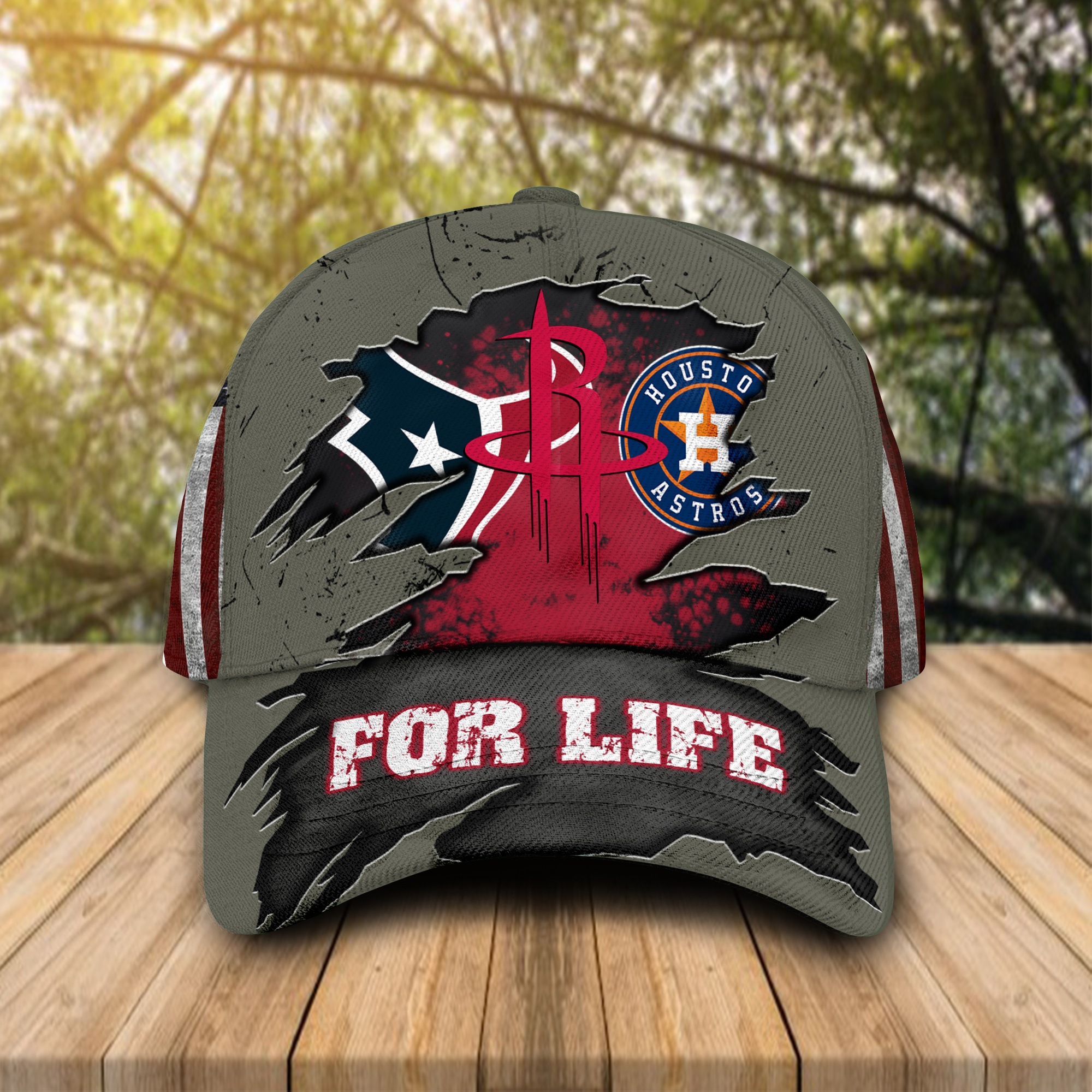 Houston Texans Houston Astros Houston Rockets For Life cap hat 1