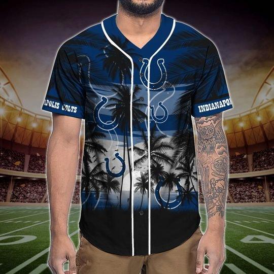 Indianapolis Colts Tropical Baseball Jersey3