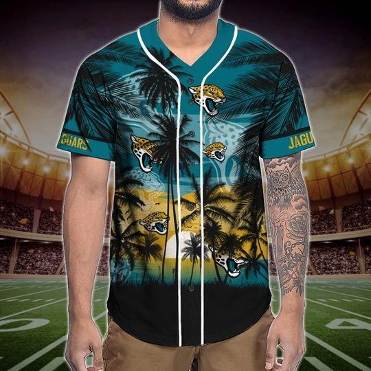 Jacksonville Jaguars Tropical Baseball Jersey3