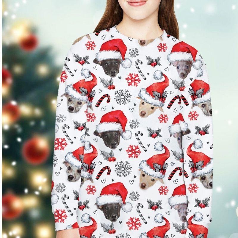 Greyhound Dog Xmas Christmas Decor sweatshirt 4
