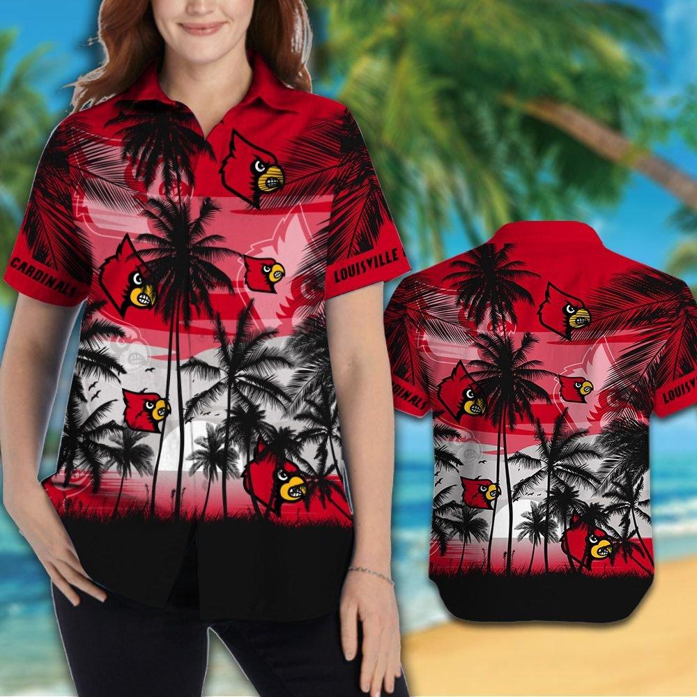 Louisville Cardinals football Tropical hawaiian shirt 2