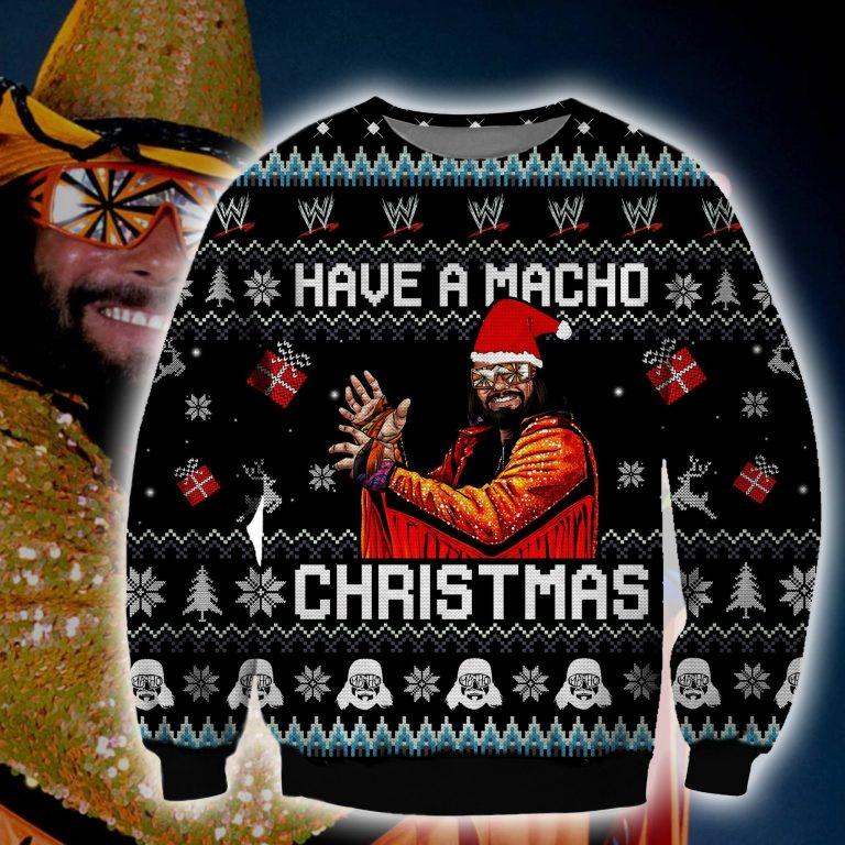 Macho Man Have a Macho Christmas ugly sweater