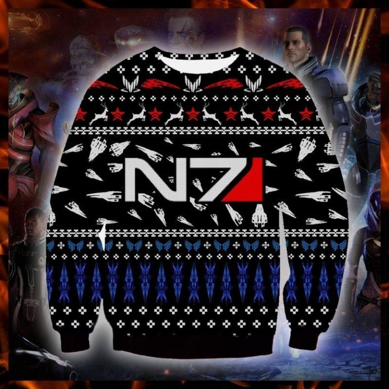 Mass Effect N7 ugly christmas sweater sweatshirt 3