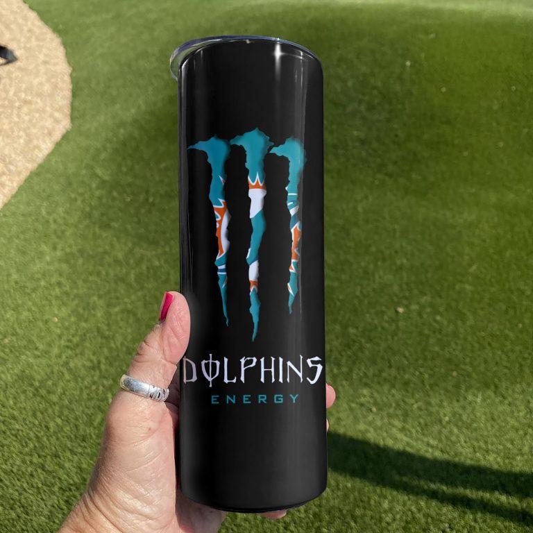 Miami Dolphins Monster Energy Skinny Tumbler 3