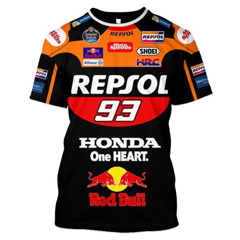 Michelin Motorsport Repsol 93 Red Bull 3d shirt hoodie 4