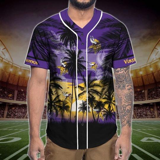 Minnesota Vikings Tropical Baseball Jersey3