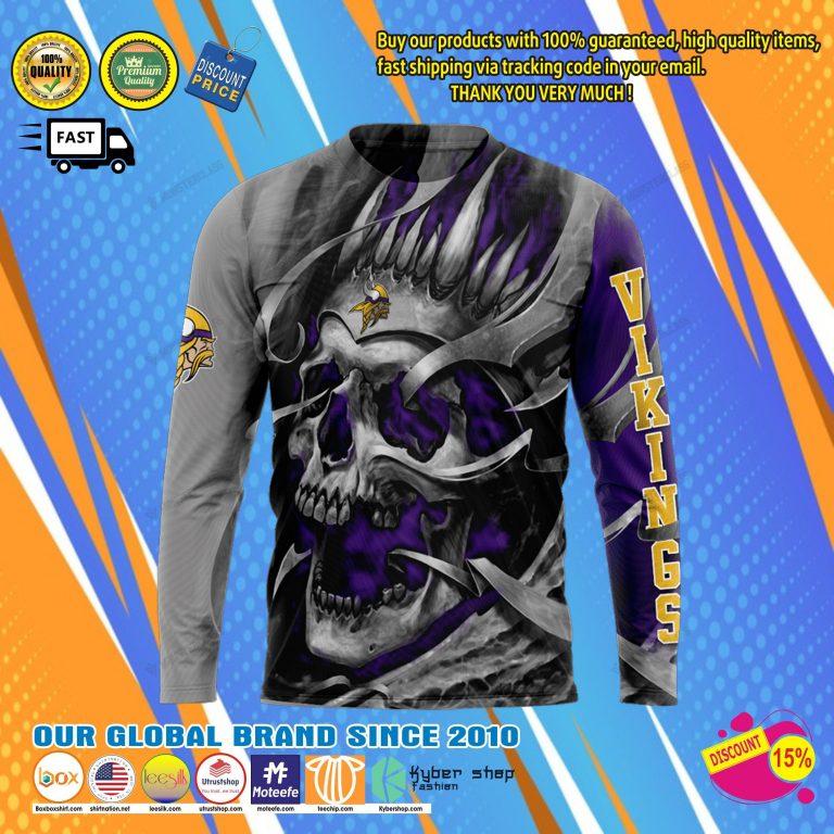 Minnesota viking skull jersey hoodie8