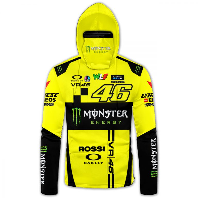 Monster Energy Valentino Rossi 46 3d hoodie mask