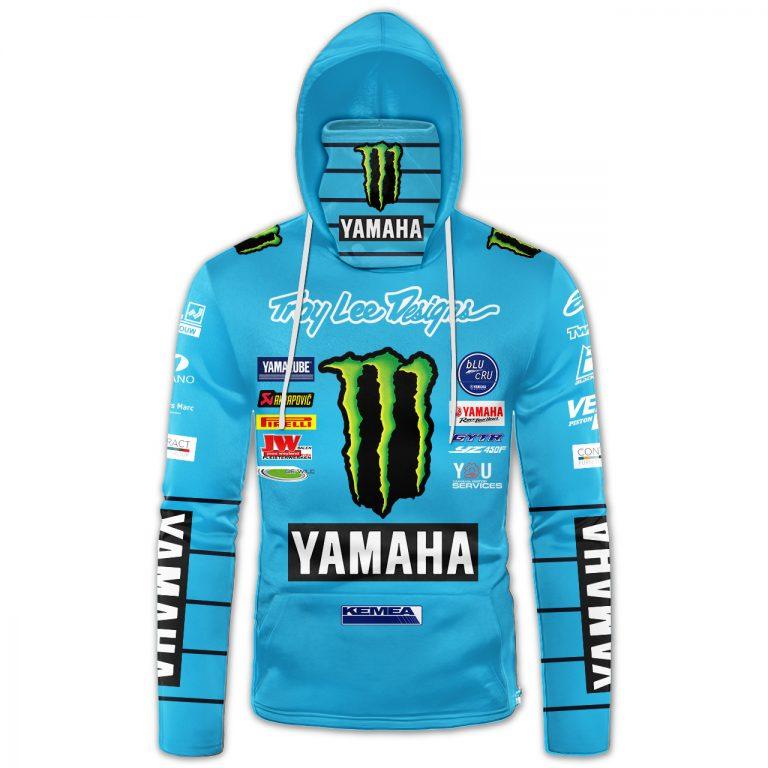 Monster Energy Yamaha Factory Racing custom name and number 3d hoodie mask