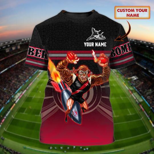 NRL Brisbane Bombers custom personalized 3d t shirt 1