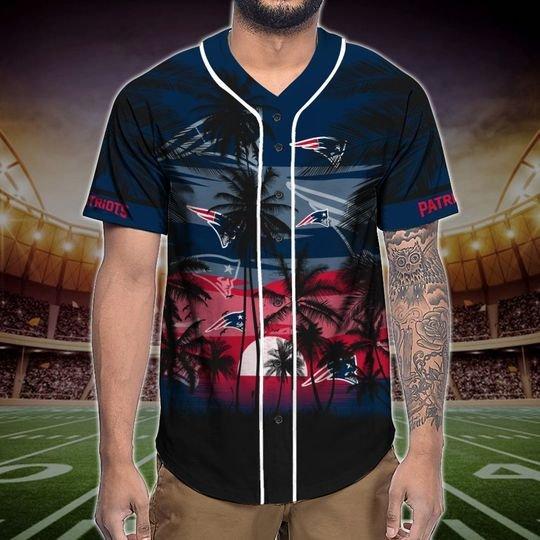 New England Patriots Tropical Baseball Jersey3