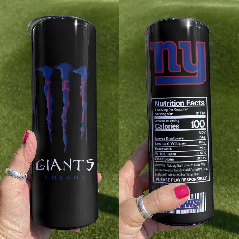 New York Giants Monster Energy Skinny Tumbler 1