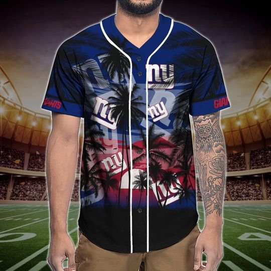 New York Giants Tropical Baseball Jersey3