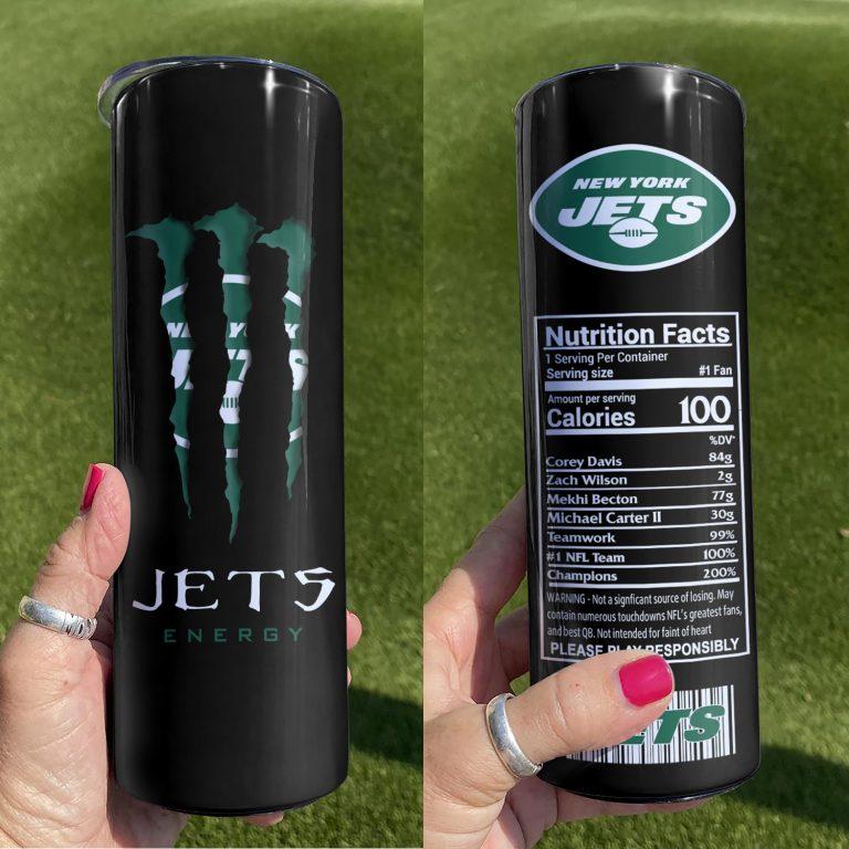 New York Jets Monster Energy Skinny Tumbler 1