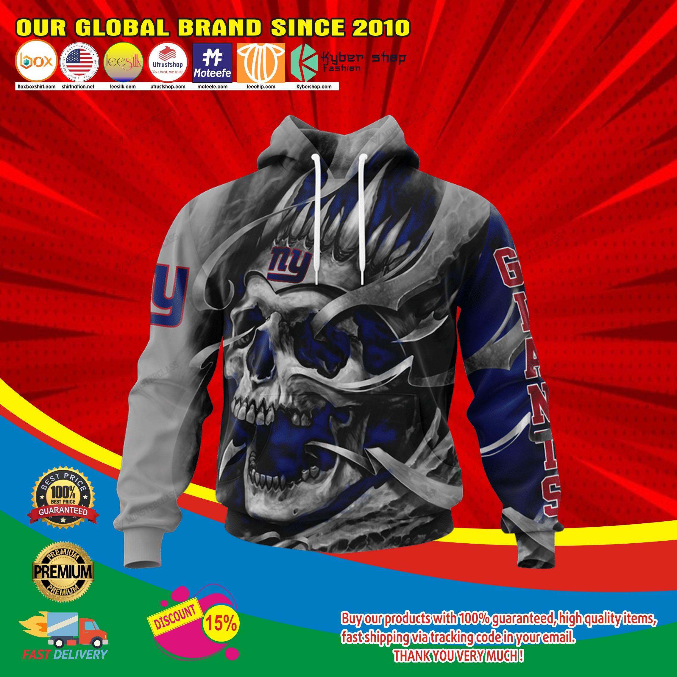 New york giants skull jersey hoodie4