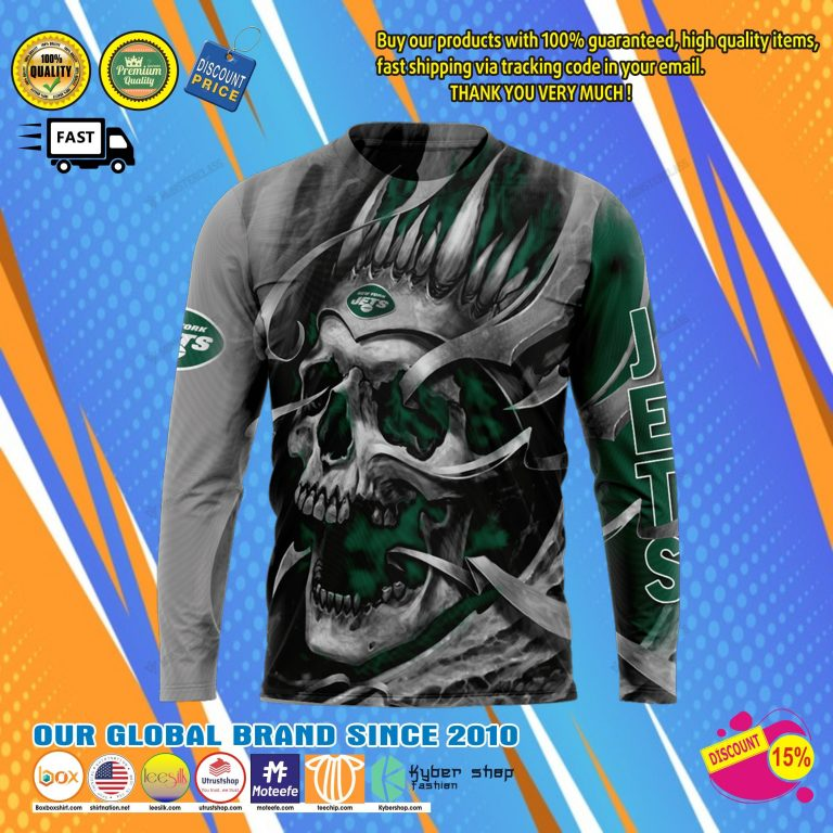 New york jets skull jersey hoodie8