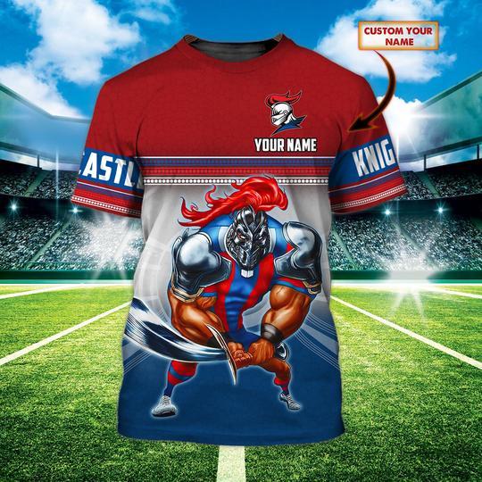Newcastle Knights custom personalized 3d t shirt 1