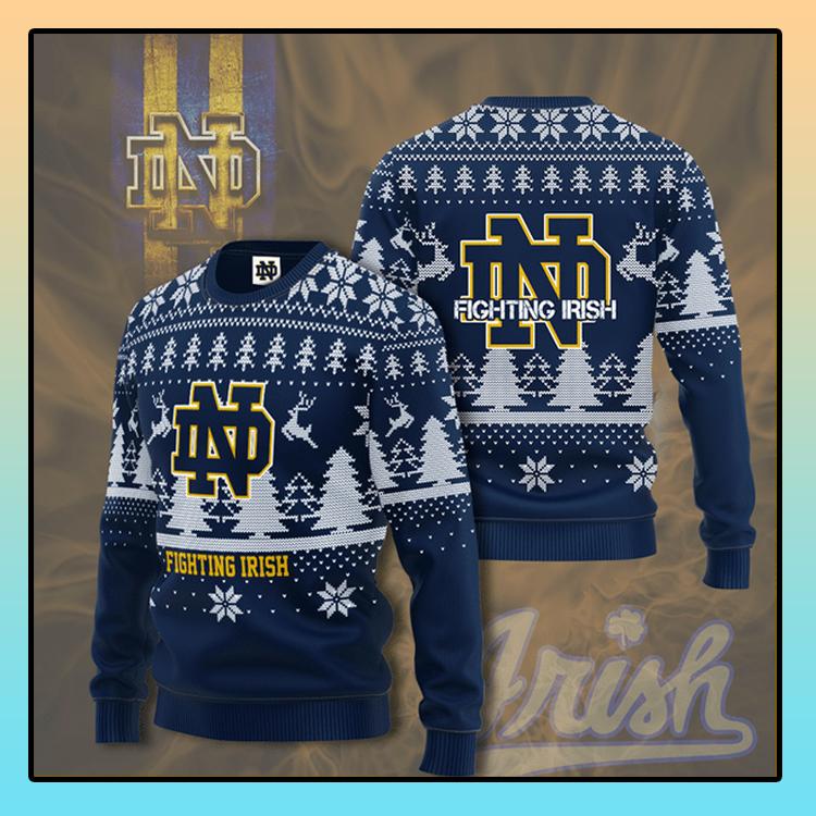 Notre Dame Fighting Irish football Christmas Sweater Shirt1