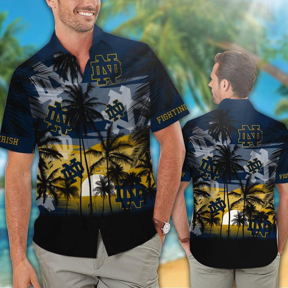 Notre Dame Fighting Irish football Tropical hawaiian shirt 5