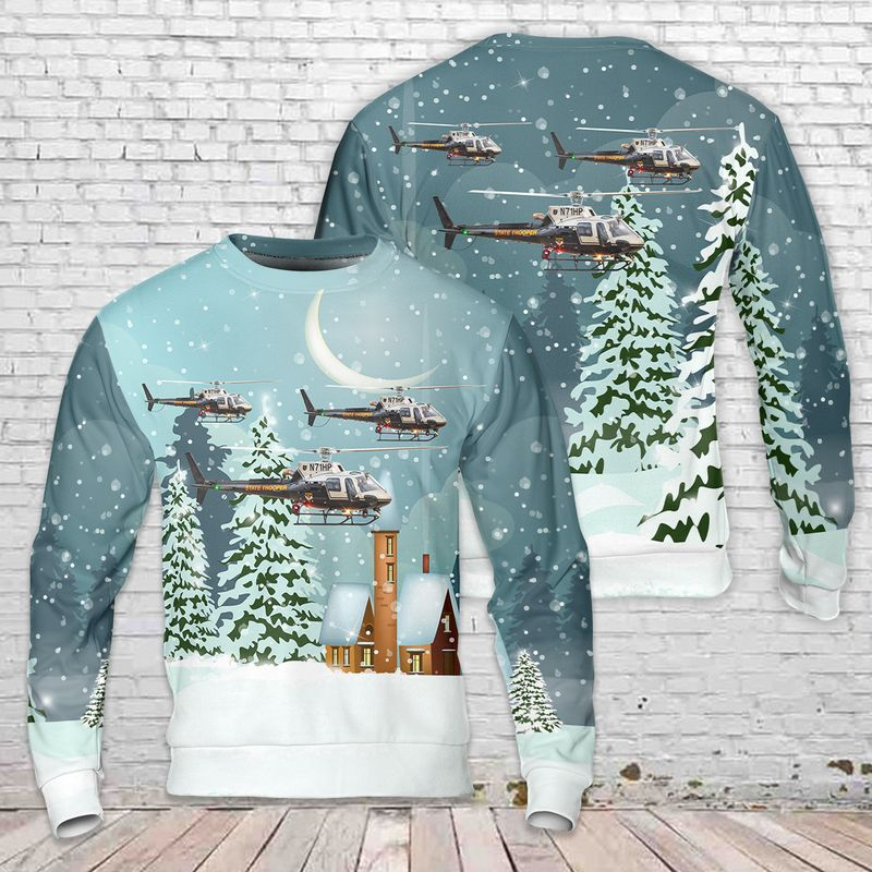 Ohio State Highway Patrol Helicopter 3D Sweater