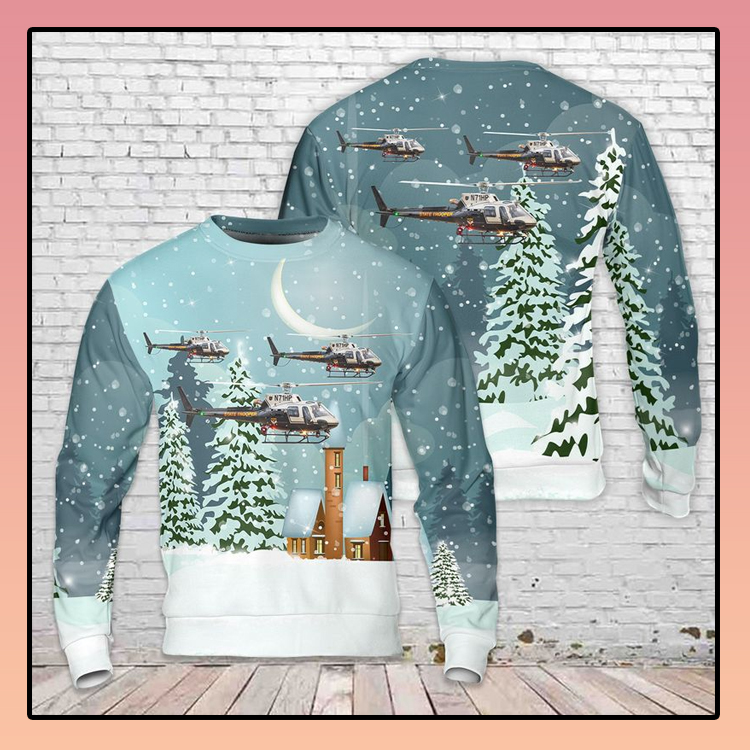 Ohio State Highway Patrol Helicopter 3D Sweater1