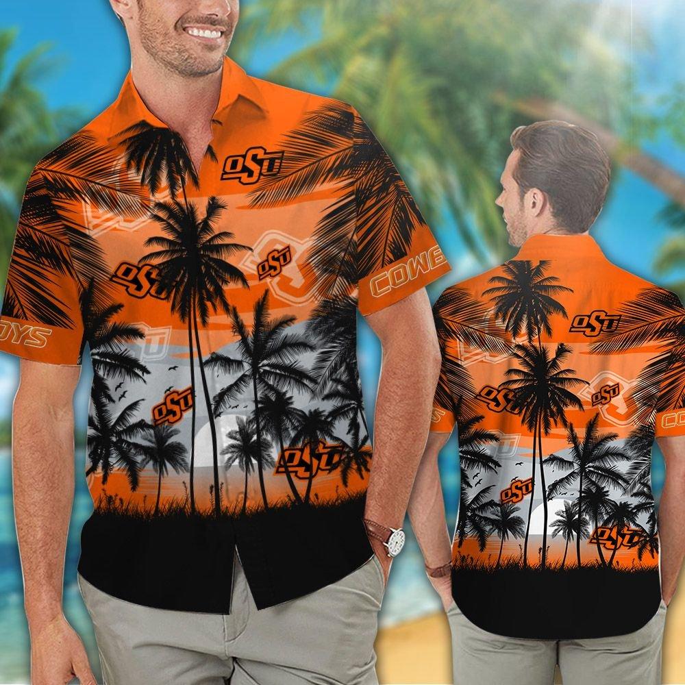 Oklahoma State Cowboys football Tropical hawaiian shirt 1